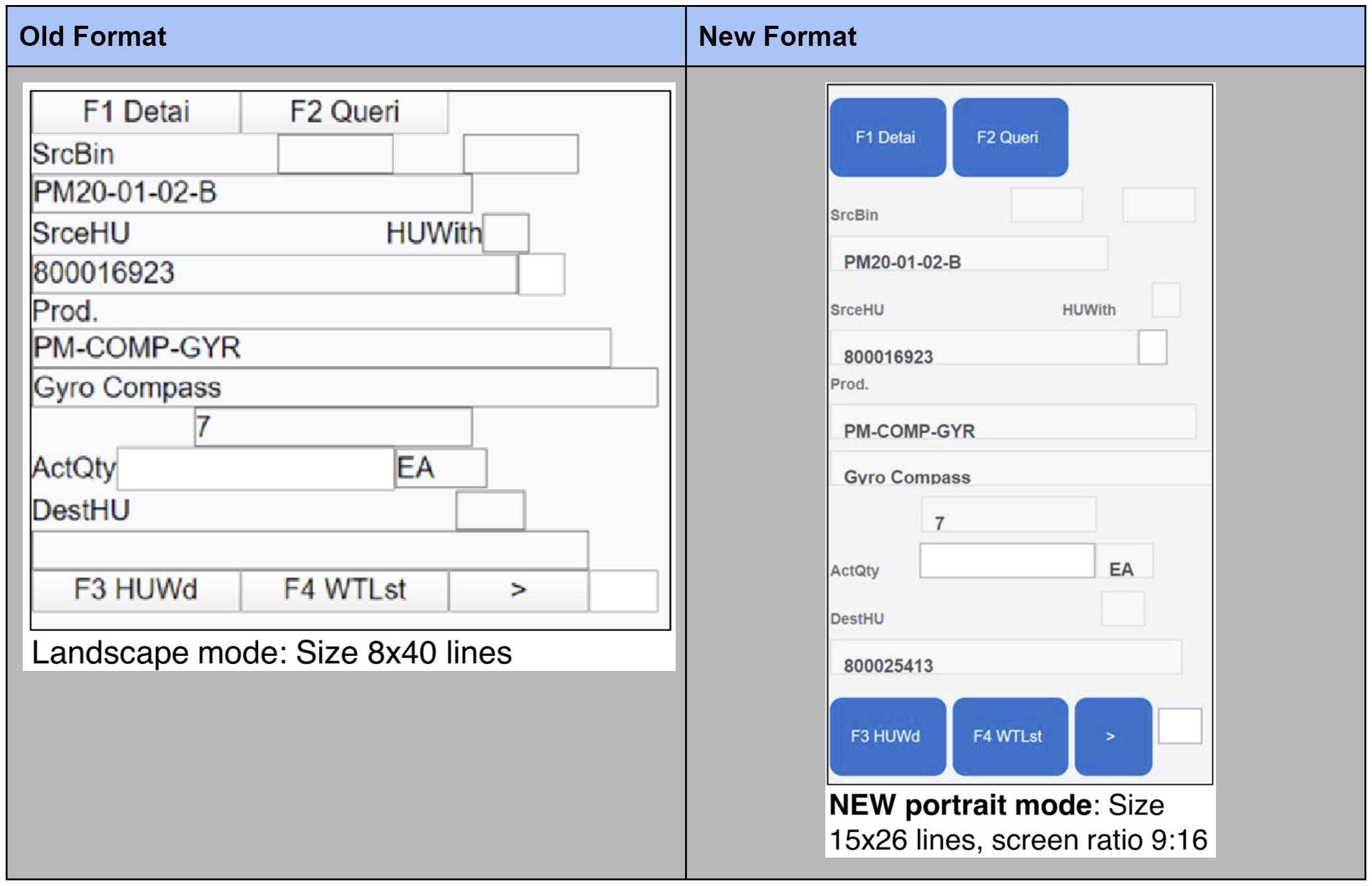 RF Portrait Mode for EWM on S/4HANA 2020